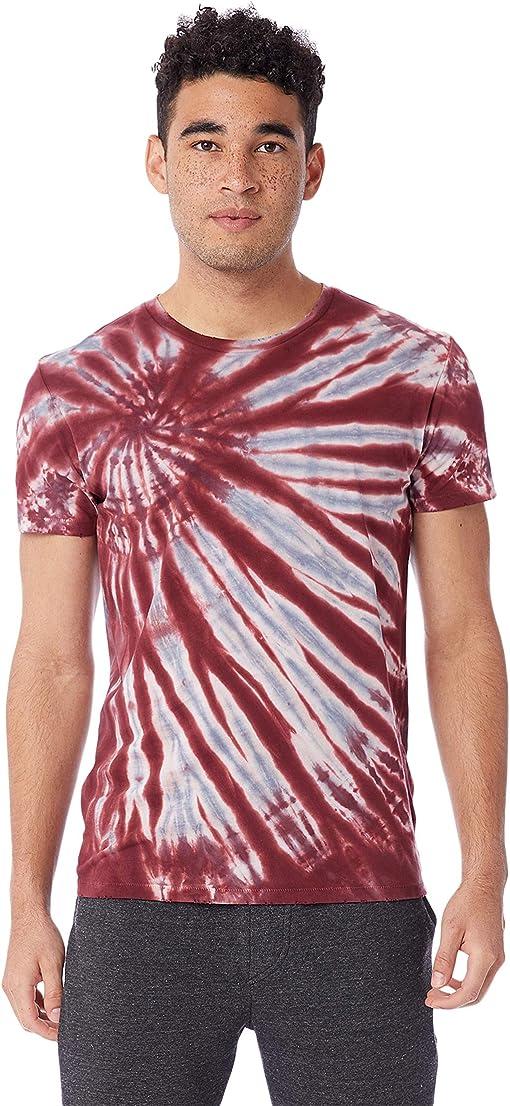 Deep Red Spiral Tie-Dye