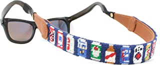 Hand-Stitched Needlepoint Sunglass Strap Retainer by Huck Venture