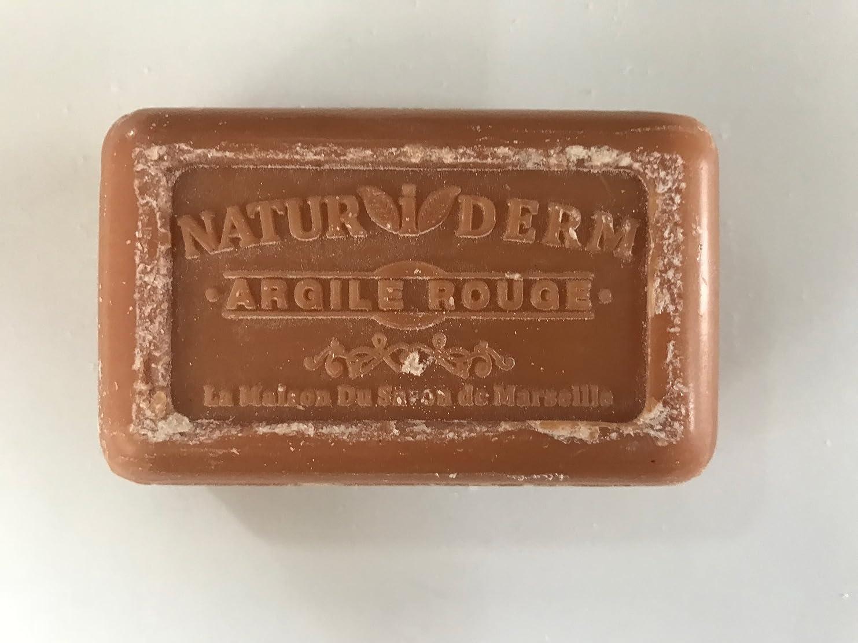 パット体細胞モーションSavon de Marseille Naturiderm Soap Red Clay 125g