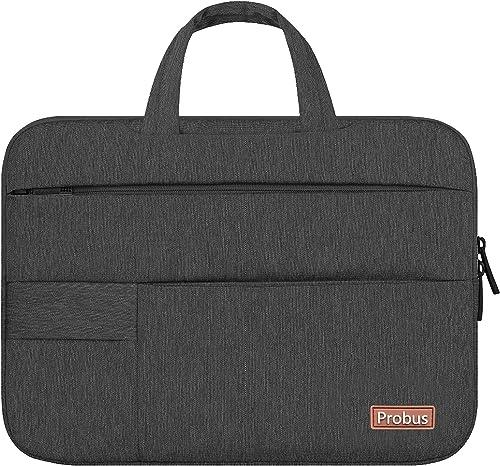 Shopizone® Splash-Proof Traveler Sleeve Bag with 1+6 Pockets for MacBook Air/Pro Microsoft Surface Laptop Notebook (1...