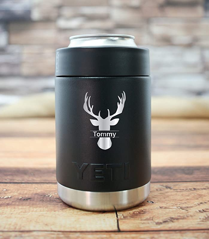 Personalized Deer Silhouette YETI Tumbler Gift For Hunter Laser Engraved Custom YETI Guaranteed Authentic