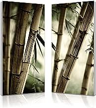Baxton Studio Bamboo Stalks Mounted Diptych Photography Print