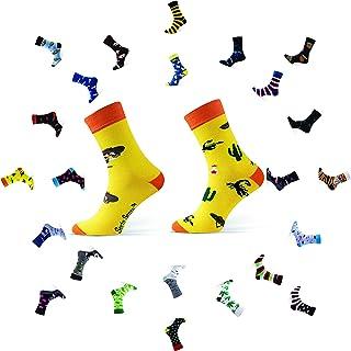 Sesto Senso Calze Lunghe Divertenti in Cotone Calzini Pazzi Colorati Fantasia Donna Uomo Funny Socks