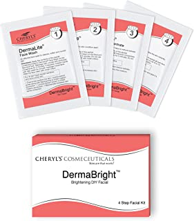 Cheryl's Cosmeceuticals DermaBright 1 Pack Skin Brightening 4-step Easy DIY Facial Kit for All Skin Types for Women and Me...