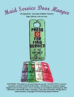 Maid Service Door Hanger: Plastic Canvas Pattern