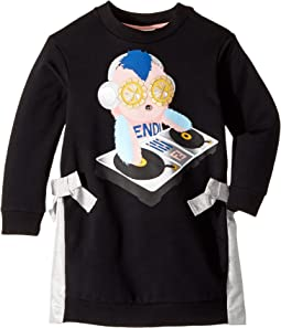 Long Sleeve DJ Fendirumi Dress w/ Side Bow Ties (Little Kids)