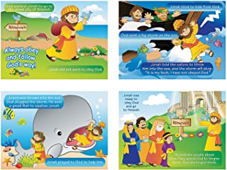Fun Express Jonah and The Whale Sticker Scenes (Makes 24) Religious Crafts for Kids