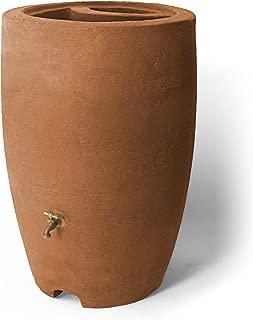 Algreen Products Athena Rain Barrel 50-Gallon, Terra Cotta