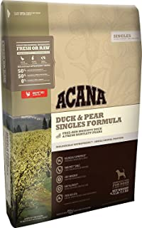ACANA Duck & Pear Singles Formula Dry Dog Food 4.5 lb. Bag Limited Ingredient, (Fast Just Jak's Pet Market