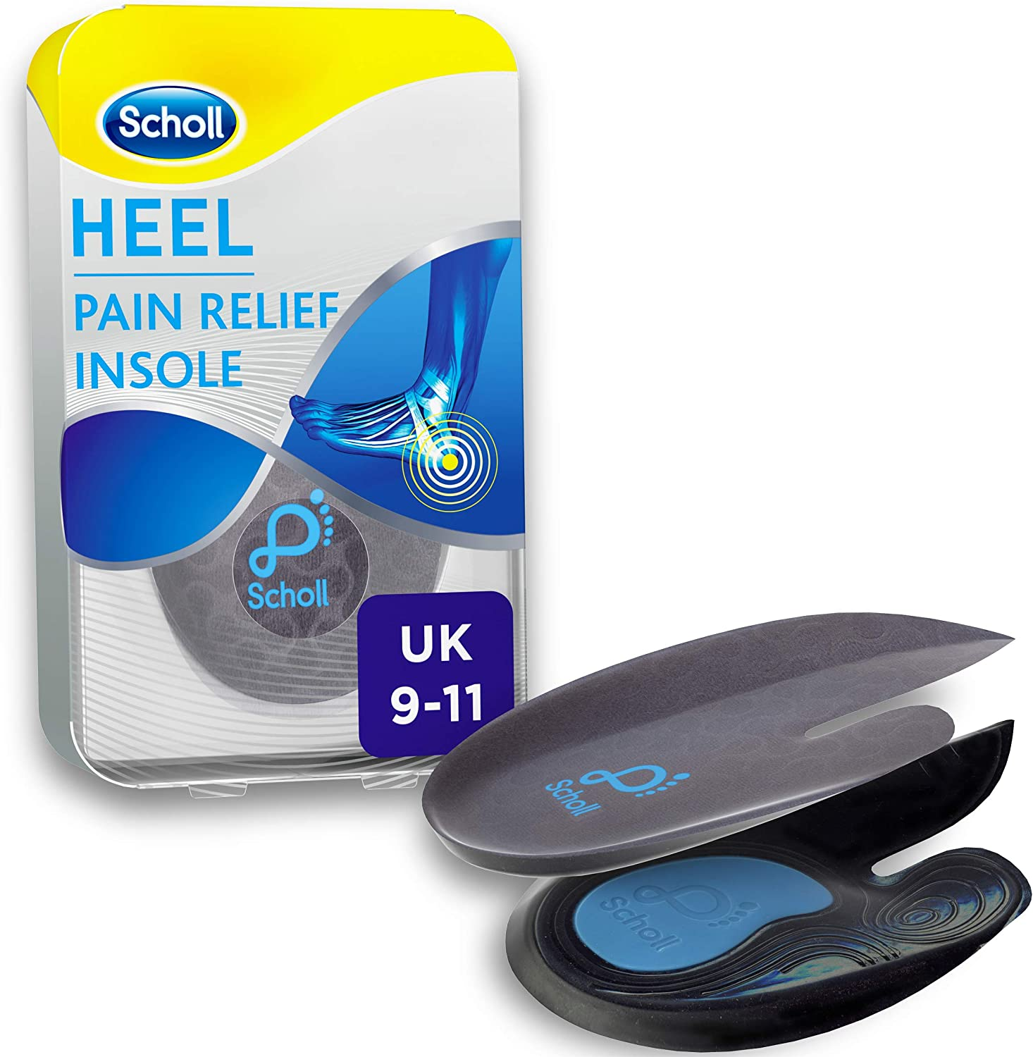 Shipping included Scholl Orthotic specialty shop Insole Heel and 9-11 UK Large Size Ankle