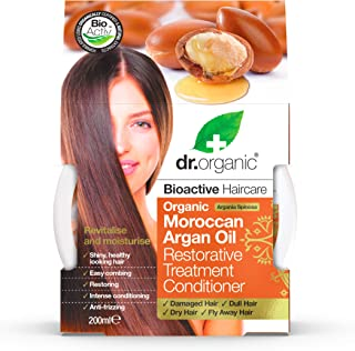 Dr. Organic Argan Hair Treatment Conditioner, 200 ml, 1er Pack (1 x 200 ml)