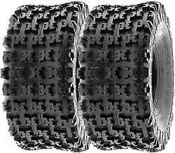 SunF 20x11-8 20x11x8 ATV UTV All Terrain Race Replacement 6 PR Tubeless Tires A027, [Set of 2]