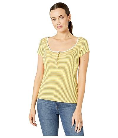 Alternative Eco Scoop Henley (Stay Gold Classic Stripe) Women