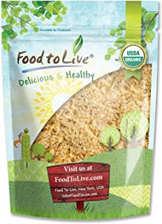 Organic Ground Golden Flaxseed Meal (Cold-Milled, Raw, Non-GMO, Kosher, Bulk) by Food to live — 8 Ounces