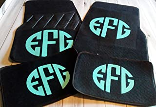 Women Teen Monogrammed Personalized 4 mats front and back Carpet Universal Fit Car SUV Truck Floor Mats