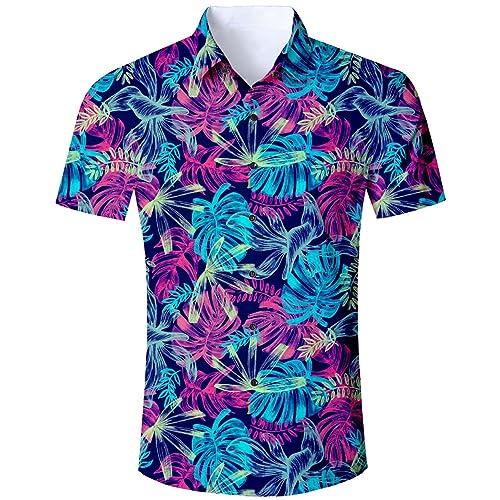 27273ce540 Goodstoworld Camisa Hawaiana para Hombre Mujer Casual Manga Corta Camisas  Playa Verano Unisex 3D Estampada Funny