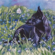 Diamond Painting Black Dog Cross Stitch Embroidery Art Home Wall Decor by LUHSICE, 80x80cm