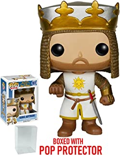 Funko Pop! Movies: Monty Python and the Holy Grail - King Arthur Vinyl Figure (Bundled with Pop BOX PROTECTOR CASE)