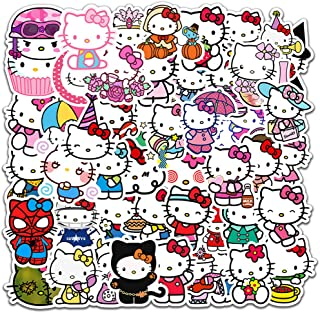 SEBADA 50Pcs Hello Kitty Stickers for Laptop Motorcycle Bicycle Skateboard Luggage Decal Graffiti Patches[No-Duplicate Sticker Pack] HWJ
