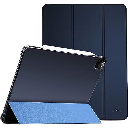 "ProCase iPad Pro 11"" 第2世代 2020 ケース [Apple Pencil 2充電対応] 超スリム スタンド フォリオ保護ケース 半透明フロスト バックカバー 対応端末:iPad Pro 11インチ 2世代 2020 / 1世代 2018 - ネービー"