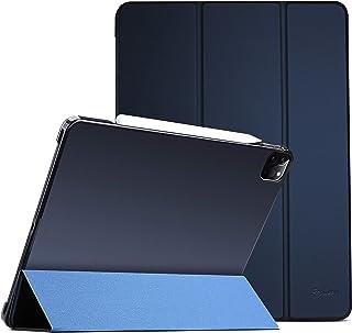 "ProCase iPad Pro 11"" 第2世代 2020 ケース [Apple Pencil 2充電対応] 超スリム スタンド フォリオ保護ケース 半透明フロスト バックカバー 対応端末:iPad Pro 11インチ 2世代 2020 / ..."