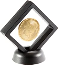 Bitcoin Coin Deluxe Collector Set with Display Case and Box | Bitcoin Collectors Coin | Commemorative Bitcoin | Cryptocurrency Coin HODL | BTC is a Good Present Ideas for Physical Crypto Token Fans