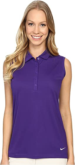 Victory Solid Sleeveless Polo