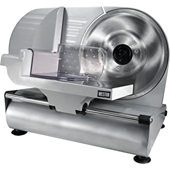 """Weston 61-0901-W Heavy Duty Meat and Food Slicer, 9"""", Stainless Steel"""