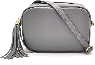 ELIOX Borsa Donna Vera Pelle Made In Italy Piccola Borsetta a Tracolla Elegante Moda Crossbody Bag Genuine Leather