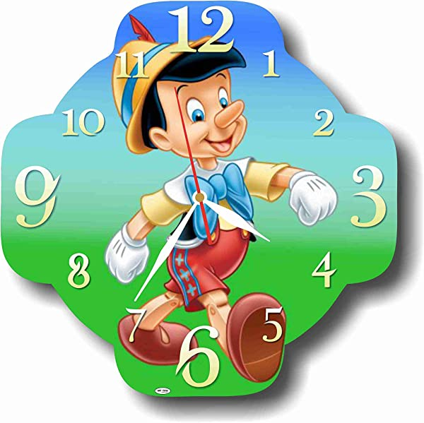 MAGIC WALL CLOCK FOR DISNEY FANS Pinocchio 11 Handmade Made Of Acrylic Glass Get Unique D Cor For Home Or Office Best Gift Ideas For Kids Friends Parents And Your Soul Mates