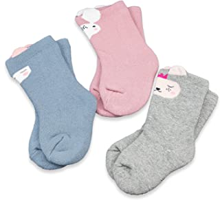 CoCoCute Baby Socks -3 Pairs Thick Winter Toddler Socks Baby Boy and Girl Socks Infant Socks Kid Socks Warm Cotton Crew Socks