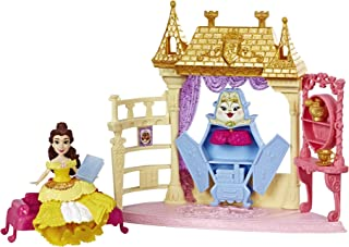 Disney Princess Royal Chambers Playset & Belle Doll, Royal Clips Fashion, One-Clip Skirt
