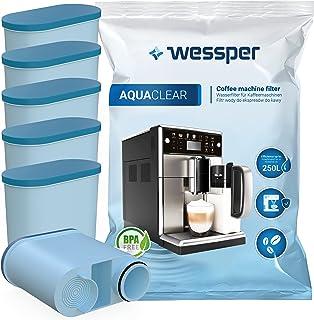 Wessper AquaClear Lot de 6 filtres à eau pour machines à café automatiques Saeco et Philips AquaClean CA6903/10 CA6903/22 ...