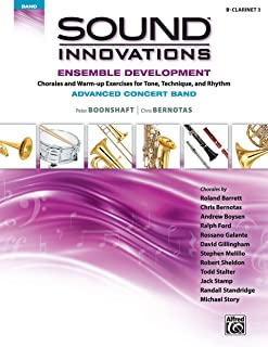 Sound Innovations for Concert Band -- Ensemble Development for Advanced Concert Band: B-Flat Clarinet 3