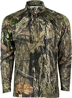 Mossy Oak Quarter Zip Camo Shirts for men, Hunting...