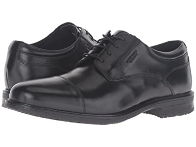 Rockport Essential Details II Waterproof Cap Toe (Black Leather) Men