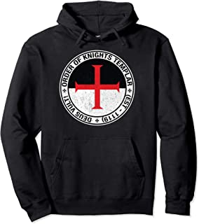 Order of the Knights Templar Flag Sigil Pullover Hoodie