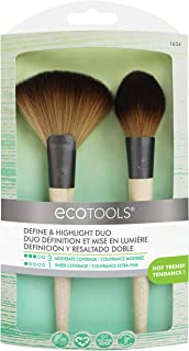 EcoTools Define & Highlight Duo, Makeup Brush Set for Powder, Bronzer, Highlighter