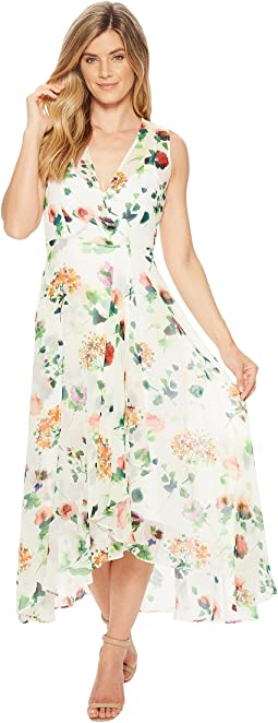 Calvin Klein Flower Print High-Low Maxi CD8HT35J