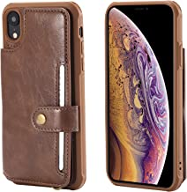 Wallet Leather Case for XR 256gb 128gb 64gb Apple iPhone,Kickstand Protective Card Holder Magnetic Snap Wrist Strap Durable Cover Shell Girl Boy Men Women-Coffee