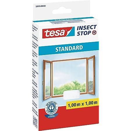 Insektenschutz mit Klettband selbstklebend 130 cm x 150 cm, 3er Pack//Wei/ß tesa Insect Stop COMFORT Fliegengitter Fenster Leichter Sichtschutz Fliegen Netz ohne Bohren