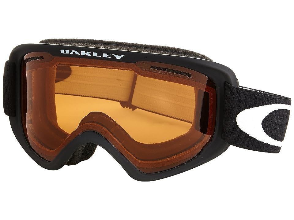 Oakley O2 XM (Matte Black/Persimmon) Sport Sunglasses