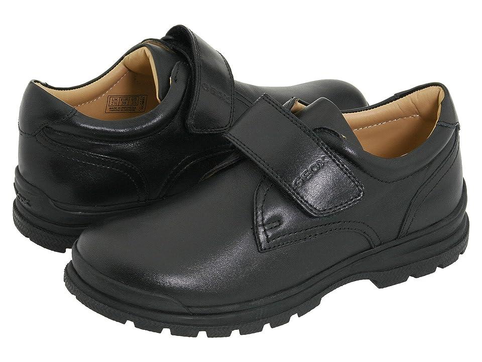 Geox Kids Junior William (Big Kid) (Black) Boys Shoes