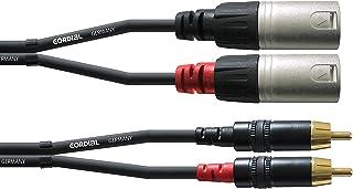 CORDIAL -Dubbele XLR-stekker naar RCA-audiokabel 1,5 m