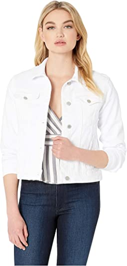 Classic Trucker Jean Jacket in White