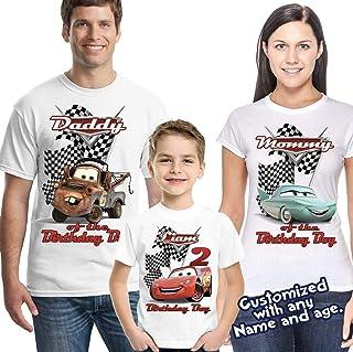 Lightning McQueen Cars Personalized Birthday Shirt - Custom Party
