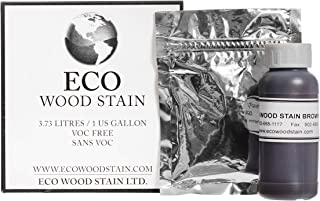 Eco Wood Treatment One US Gallon, Brown   Semi-Transparent