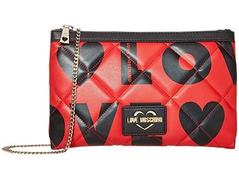 LOVE Moschino Love Is All Over Clutch/Shoulder Bag