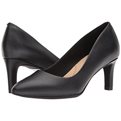 Clarks Calla Rose (Black Leather) High Heels
