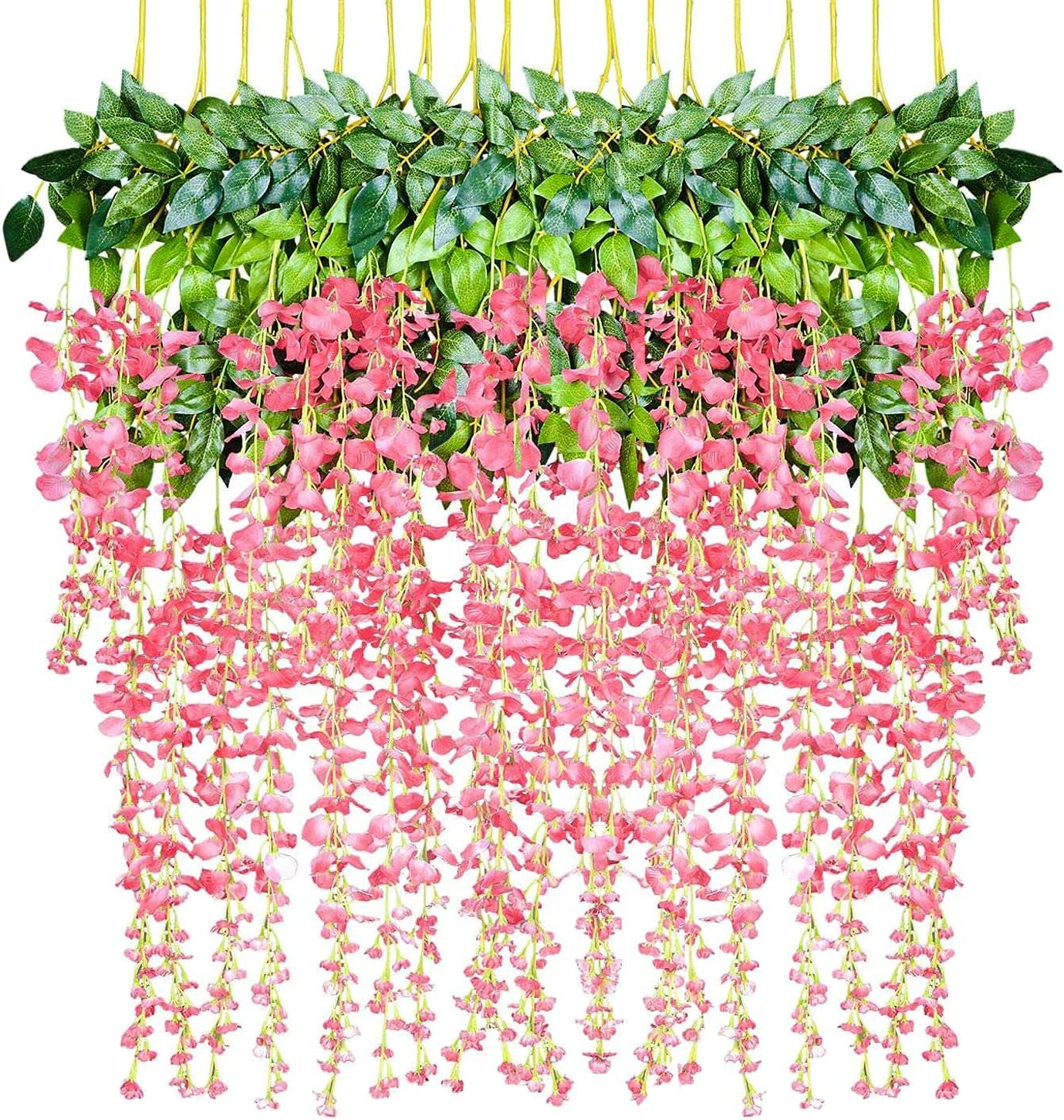 DearHouse 6 Pieces 3.6 Feet Artificial Garland Artific Wisteria low-pricing Overseas parallel import regular item